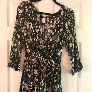 Free People, Long Sleeve Romper, Size L